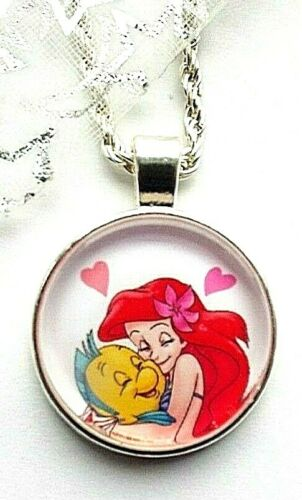 LITTLE MERMAID ARIEL PRINCESS NECKLACE STRONG 16 INCH 2 TO 4 Y GIFT BOX BIRTHDAY