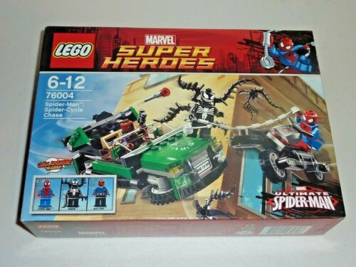 lego super heroes 76004 spider-man spider cycle chase new sealed