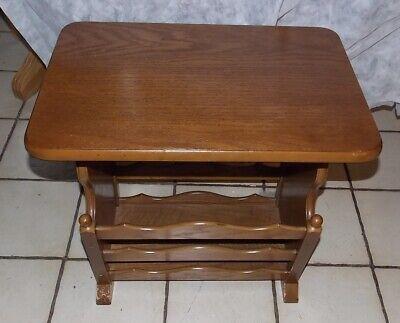 Oak Magazine Rack End Table By Butler Side T815 689249824112 Ebay