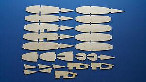 Graupner-039-Kwik-Fly-Mk-3-039-conjuntos-de-costilla