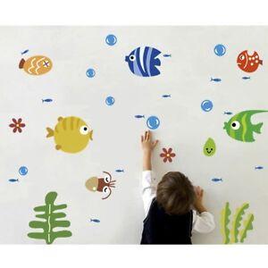 Multicolor-Cartoon-Fish-Bathroom-Decor-Wall-Sticker-Room-Decal-Art-Kids-Room-LK3