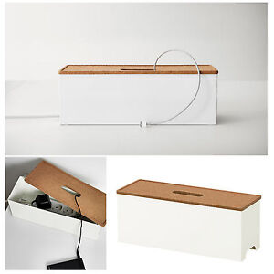 new ikea cable management box charger white hide tidy cover tray organiser ebay. Black Bedroom Furniture Sets. Home Design Ideas