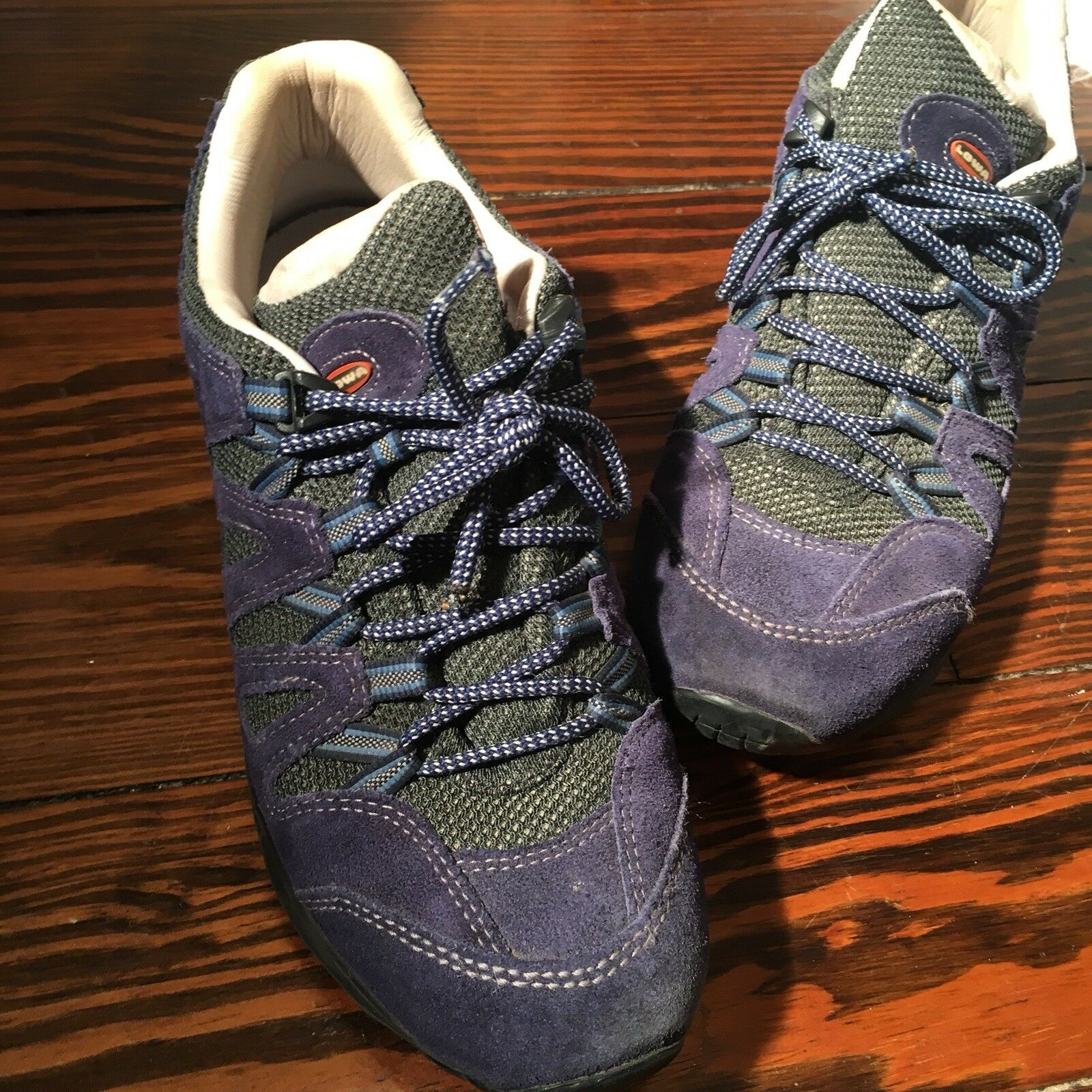 Lowa Jannu Lo Suede Leather Lined Trekking shoes Mens Sz US 8 Made In