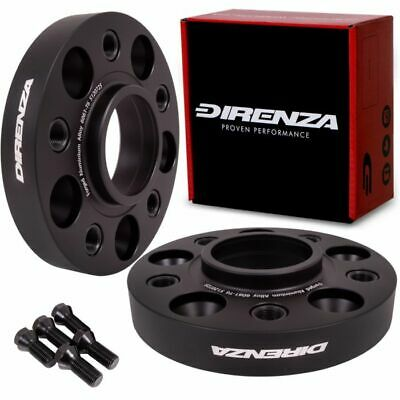 DIRENZA 5x130 15mm M14x1.5 ALLOY  HUBCENTRIC WHEEL SPACER PAIR FOR AUDI Q7 05+