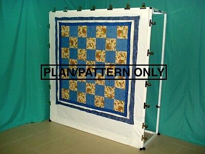 Quilting Frame Pattern. Mulberry Millie Upright Quilt Basting Frame.