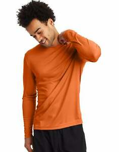 Hanes Men's Long Sleeve T-Shirt Men Cool DRI Performance Athletic Wicking XS-3XL