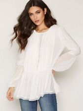 Womens People The Soul Serene Blouse Ob551889 Ivory Top Sz XS