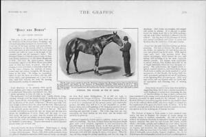 1901-Antique-Print-HORSE-RACING-Doricles-St-Leger-Leopold-De-Rothschilds-11