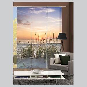 evening strand gr ser schiebevorhang raumteiler digital. Black Bedroom Furniture Sets. Home Design Ideas