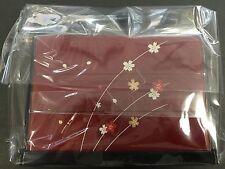 HAKOYA Lunch Bento Box 06423 Red Cherry Blossoms Sakura Nodate MADE IN JAPAN