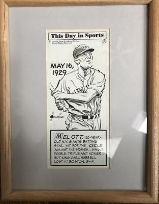 Supply Hollreiser Art Original Published Framed Artwork On Mel Ott Pure Whiteness