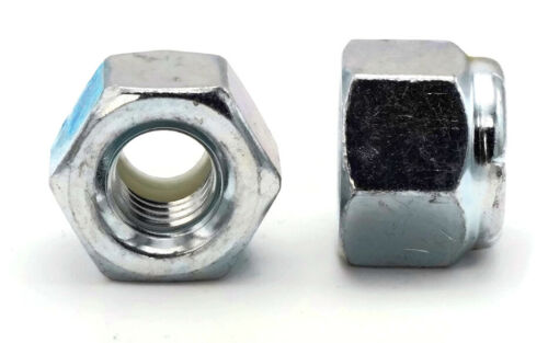 "Zinc Plated Steel Nylon Insert Heavy Lock Nuts Nylock Sizes 1//4/""-20 to 3/""-4"