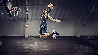 Lebron James Lakers Dunking Poster 24 x 36