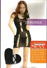 Sexy Women Black Fishnet Body Stocking Bedroom Dresses Lingerie_CBD27