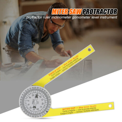 7 Inch ANGLE FINDER RULER MITER SAW PROTRACTOR MEASURING TOOL LEVEL INSTRUMENT U