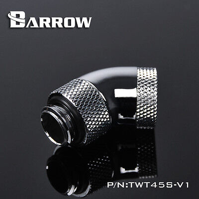 """Barrow G1/4"""" 45 Degree Silver Double Rotary Male to Female - 028"""