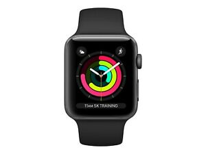 Smartwatch Apple Watch3 GPS, 42mm Space Grey Aluminium Case with Black Sport