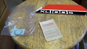 NOS Honda Emblem Sticker Genuine XL100-Z XL100 1979 87127-436-300ZA