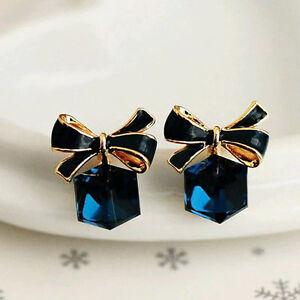 1 Pair Best Women Fashion Cute Lady Elegant Crystal Rhinestone Ear Stud Earring