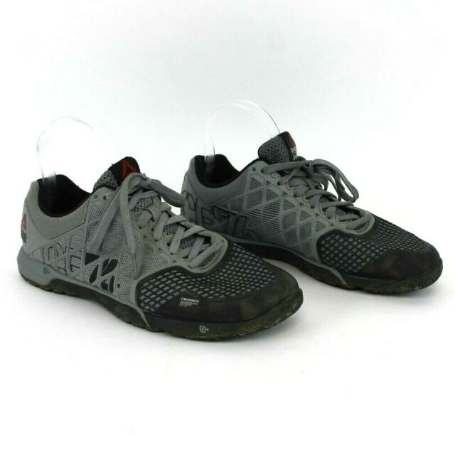 Reebok Men's CrossFit CF74 Gray Black Training Shoes Athletic Size 7.5 M