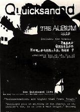 "20/11/93PGN42 QUICKSAND : SLIP ALBUM ADVERT 7X5"""