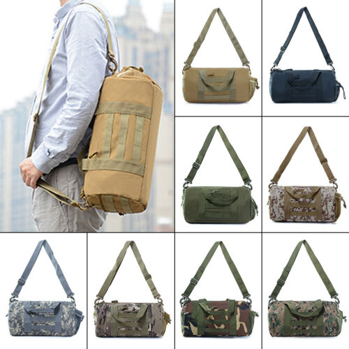 Tactical Molle Duffle Bag Handbag Military Travel Shoulder Gym Pack Cylinder Bag