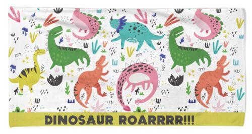 Children/'s Dinosaur Dino Roar Holiday Swimming Cotton Beach Bath Towel