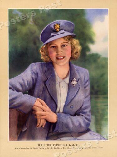 "18x24 ""H.R.H The Princess Elizabeth"" 1941 Vintage Style WW2 War Poster"