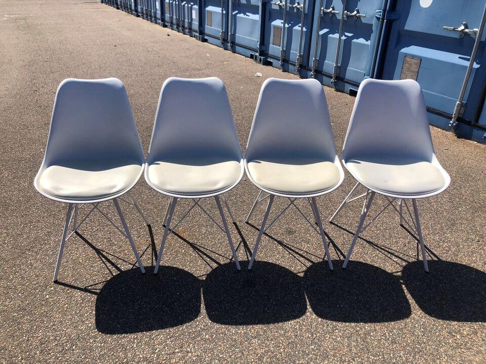Spisebordsstol, Plast og metal, – dba.dk – Køb og Salg af