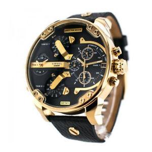 DIESEL-DZ7371-Mr-Daddy-2-0-Black-Dial-Quartz-Chronograph-Steel-Men-039-s-Watch