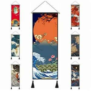 1X-Tapestry-Wall-Hanging-Flag-Banner-Printed-Fabric-Picture-Retro-Fengshui-Decor