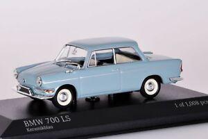 Bmw-700-ls-1960-azul-palido-Minichamps-1-43-nuevo-en-el-embalaje-original
