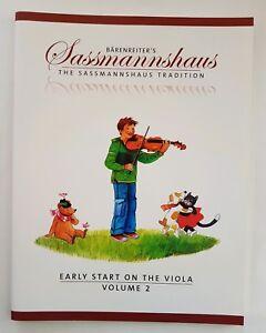 Actif Barenreiter 'sassmannshaus Commence Tôt Sur L'alto Volume 2 (music Book)-afficher Le Titre D'origine Dans Beaucoup De Styles