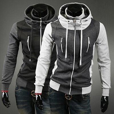 Motorcycle Style Punk Stylish Men's Stand Collar Jacket Coat Slim Jacket Blazer