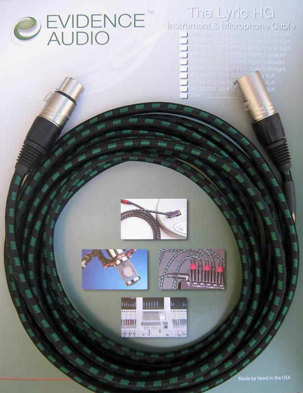 Evidence Audio Lyric Hg 10 Pies Xlr Cable Cable Cable De Micrófono  punto de venta de la marca