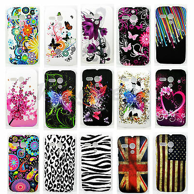 Flower Style Hard Phone Accessories Shell Skin Cover Case For Motorola Moto G