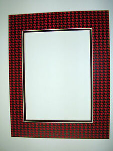 Picture Frame Double Mat 8x10 For 5x7 Photo Houndstooth