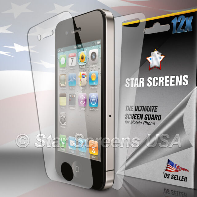 12pcs= 6x (Front Back) Full Screen Protector Cover Film for Apple iPhone 4 4G 4S