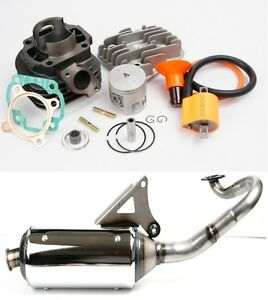Details about Performance 70cc big bore kit & exhaust Pipe for Yamaha YW50  ZUMA BWS 50 YW50 2T