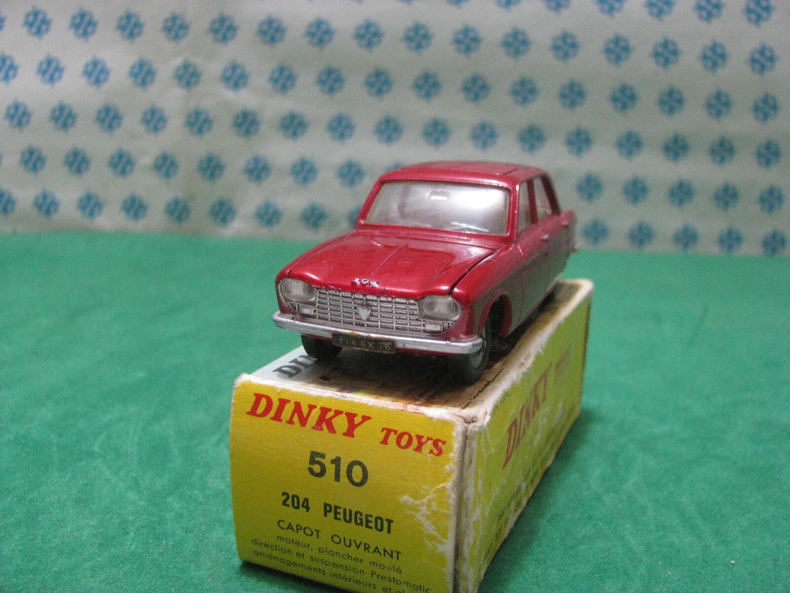 Vintage - Peugeot 204 - 1 43 Dinky Toys 510 Mint Box