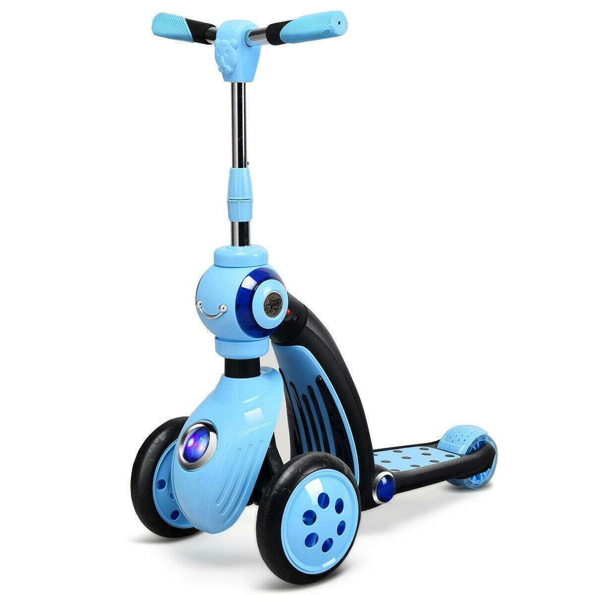 Escuter Scooter se convierte en triciclo para niños inspiró jugar y pasear con 3 ruedas
