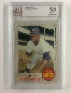 1968-Topps-105-Al-Downing-Beckett-VG-EX-4-5-New-York-Yankees