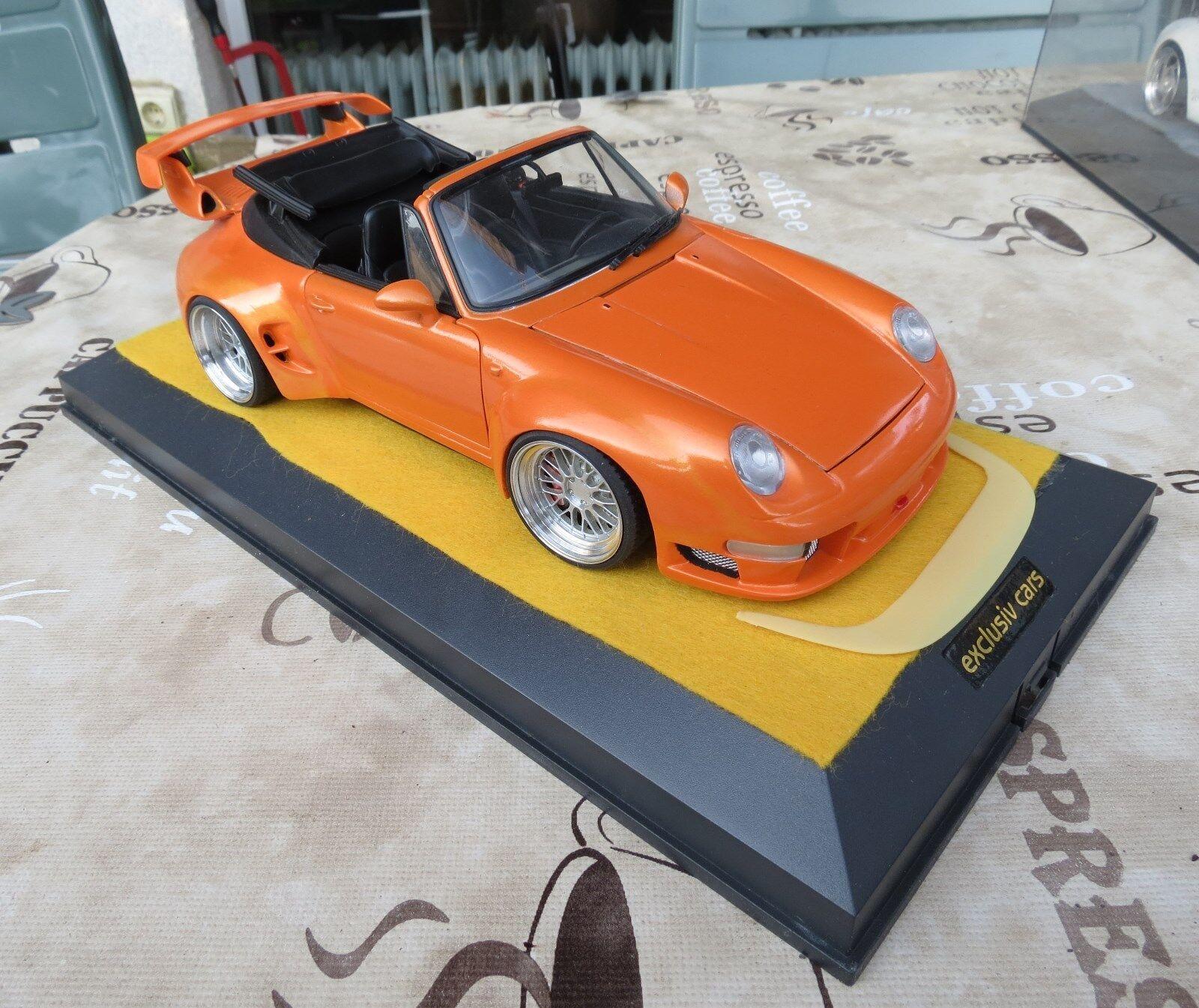 Porsche 911 993 extremo converdeible-ut-models 1 18 + vitrina Showcase