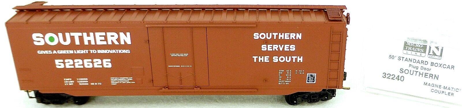 50 ´ Standard Boxcar Southern 522626 Micro Trains Line 32240 N 1 160 C Å