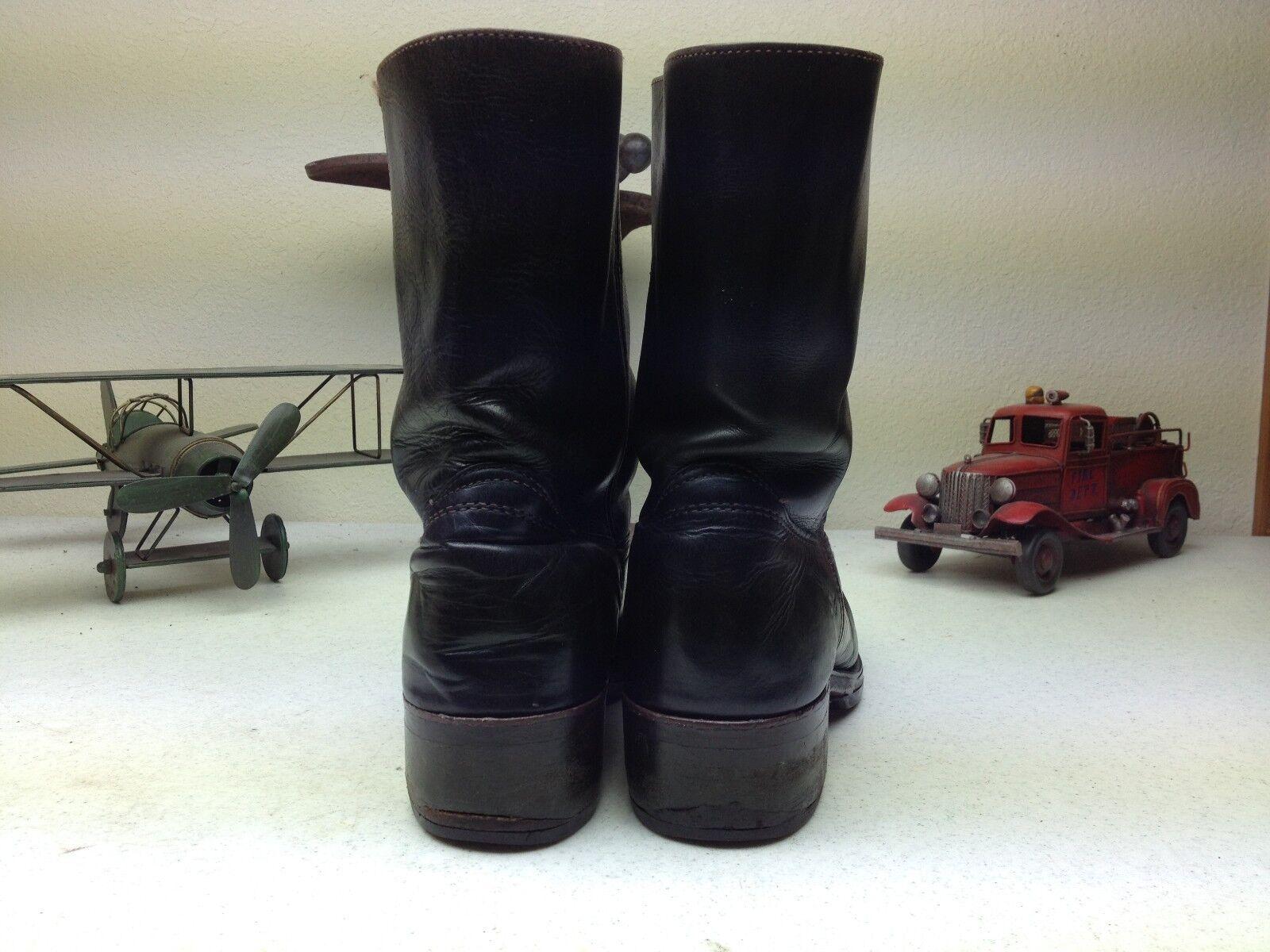 nero FYRE MADE IN USA USA USA COWBOY WESTERN ENGIINEER BIKER TRUCKER stivali 9 D 744396