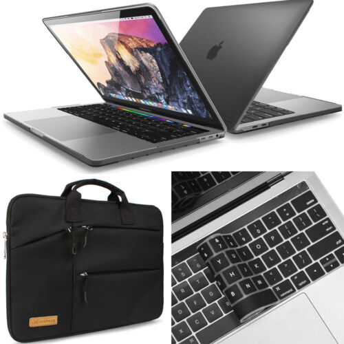 Premium Hard Case Cover For Apple MacBook Air//Pro 11//13//15 inch Black /& Clear
