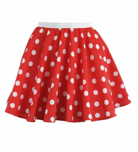 Le ragazze Polka Gonna per bambini Rock and Roll 80s Party a Tema Costume Gonna