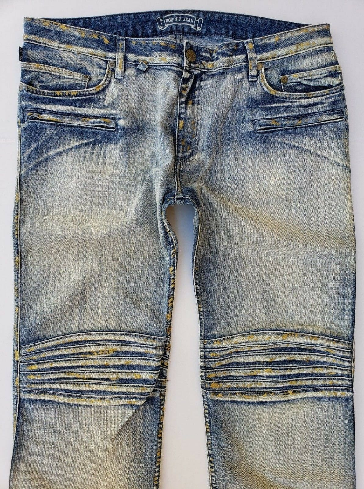 CHRISTMAS SPECIAL  New Men's ROBIN'S JEAN sz 44 Motard Slim Straight Jeans