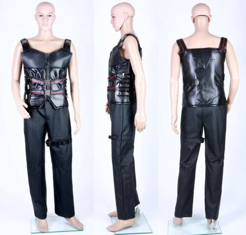 Wesley Snipes Blade Costumes Leather Vest Coats for Man Pants Cosplay Set
