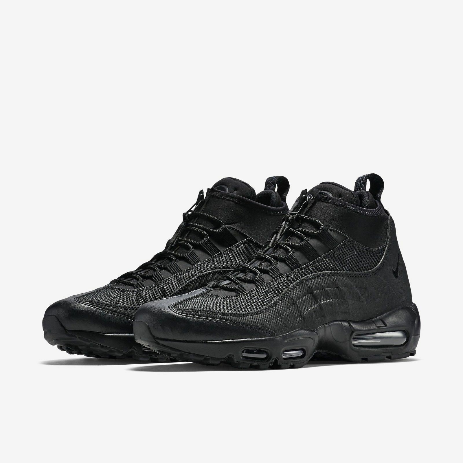 Nike Air Max 95 Winter Black/Black All Triple Blackout Zip Sneakerboot Boot NEW New shoes for men and women, limited time discount